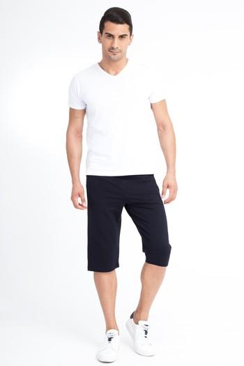 Erkek Giyim - Spor Capri Sweat Şort