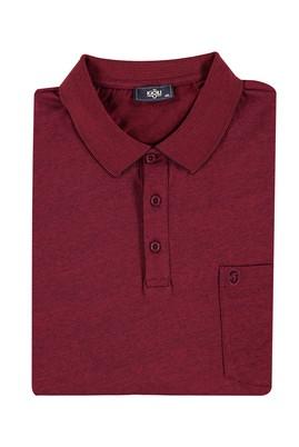 King Size Polo Yaka Çizgili Tişört