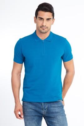 Erkek Giyim - Petrol XL XL Regular Fit Polo Yaka Tişört