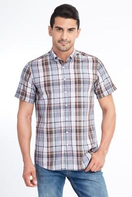 Kısa Kol Tasarım Ekose Gömlek