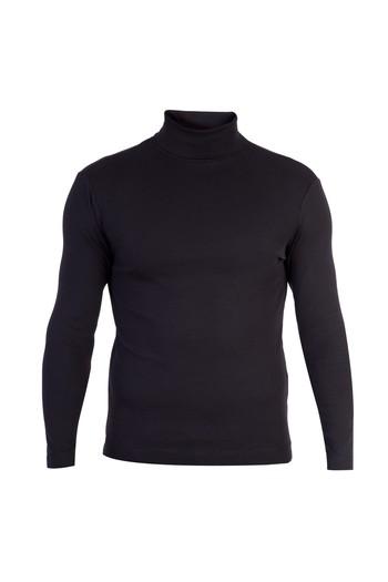 Balıkçı Yaka Düz Slim Fit Sweatshirt