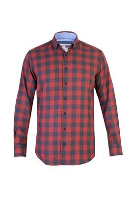Uzun Kol Tasarım Flanel Gömlek