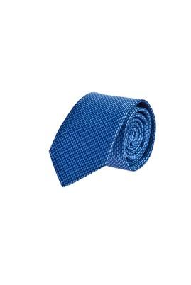Erkek Giyim - Mavi 65 65 Desenli İnce Kravat