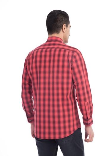 Uzun Kol Tasarım Ekose Gömlek