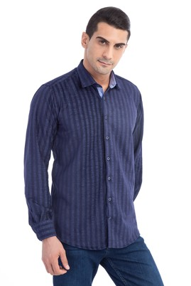 Uzun Kol Çizgili Oduncu Gömlek