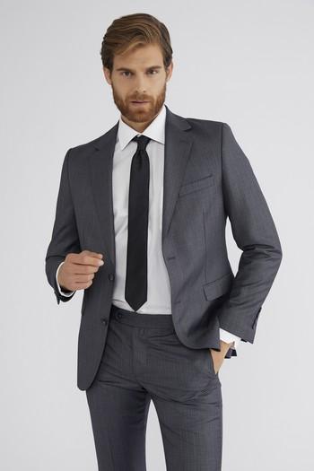 Slim Fit Desenli Takım Elbise