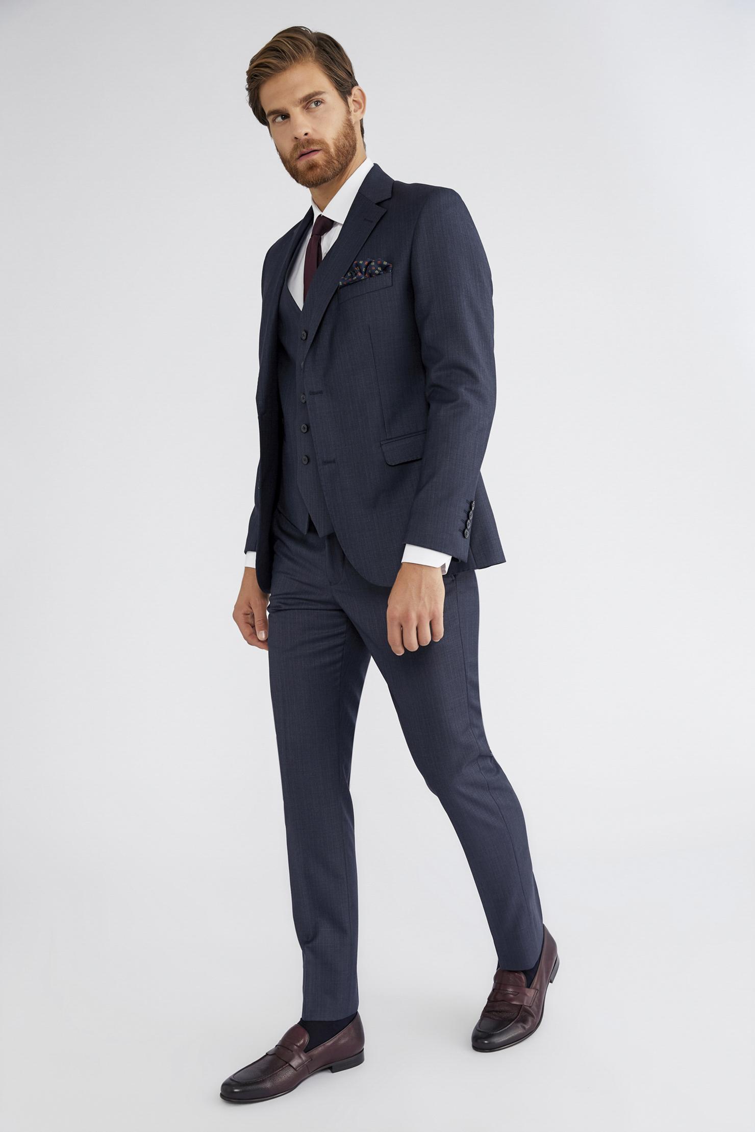 6a489c00c6f88 Yelekli Desenli Takım Elbise - Takım Elbise Modelleri - Slim Fit ...
