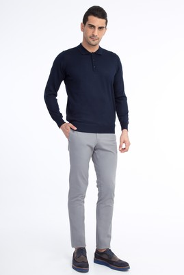 Slim Fit Spor Düz Pantolon