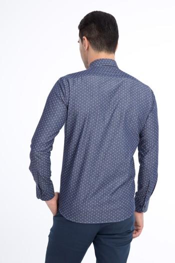 Uzun Kol Denim Slim Fit Gömlek