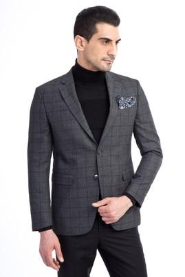 Slim Fit Kareli Ceket