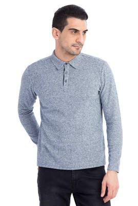 Polo Yaka Tasarım Slim Fit Sweatshirt