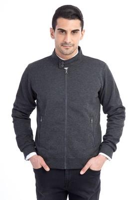 Fermuarlı Slim Fit Sweatshirt