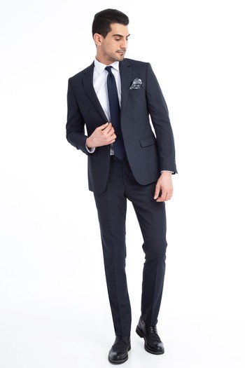 Slim Fit Kuşgözü Takım Elbise