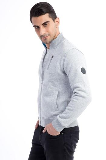 Fermuarlı Tasarım Sweatshirt