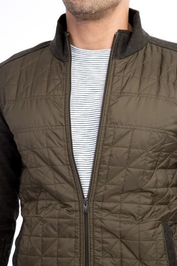 Fermuarlı Tasarım Slim Fit Sweatshirt