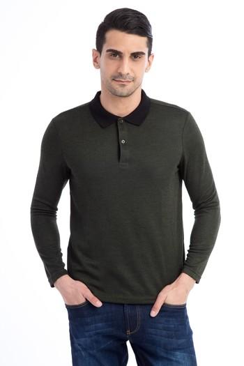Polo Yaka Tasarım Sweatshirt