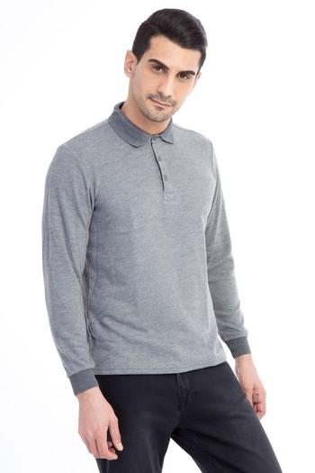 Erkek Giyim - Polo Yaka Desenli Sweatshirt