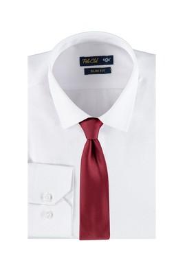 Slim Fit Beyaz Gömlek Kravat Set