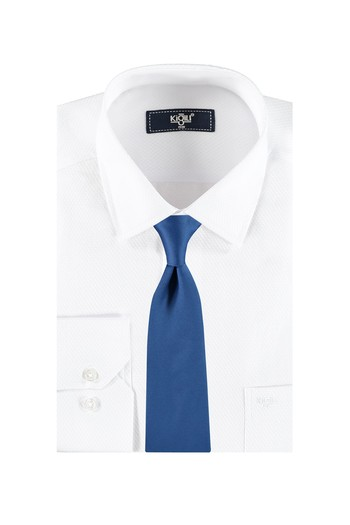 Klasik Beyaz Gömlek Kravat Set