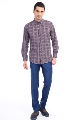 Süper Slim Fit Flanel Pantolon