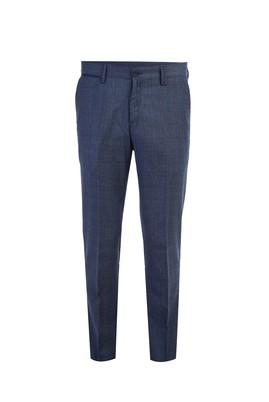 Süper Slim Fit Ekose Flanel Pantolon