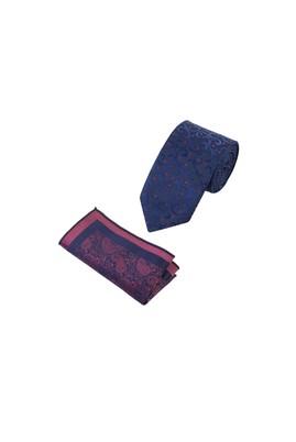 2'Li Desenli Kravat Mendil Set