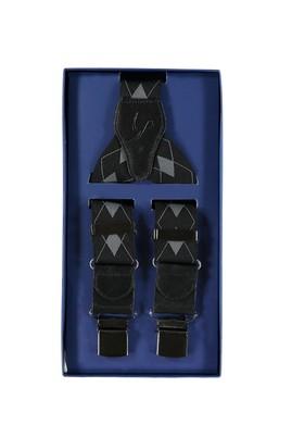 Erkek Giyim - Siyah STD 00 Desenli Pantolon Askısı