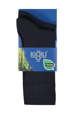 Erkek Giyim - Lacivert 39 39 2'lİ Bambu Çorap