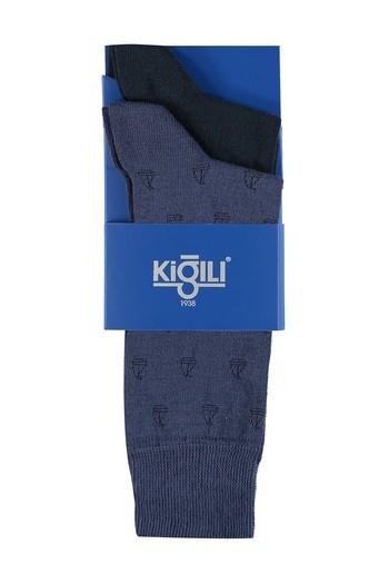 Erkek Giyim - 2'lİ Desenli Çorap