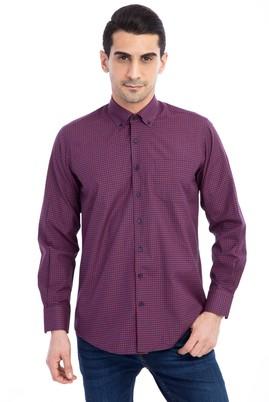 Erkek Giyim - Uzun Kol Kareli Gömlek