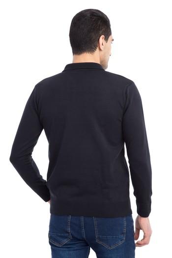 Erkek Giyim - Polo Yaka Desenli Triko