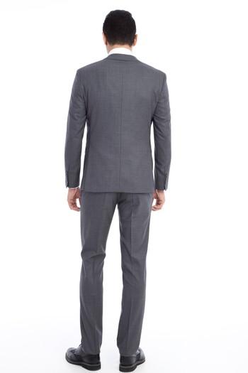 Erkek Giyim - Slim Fit Yün Takım Elbise