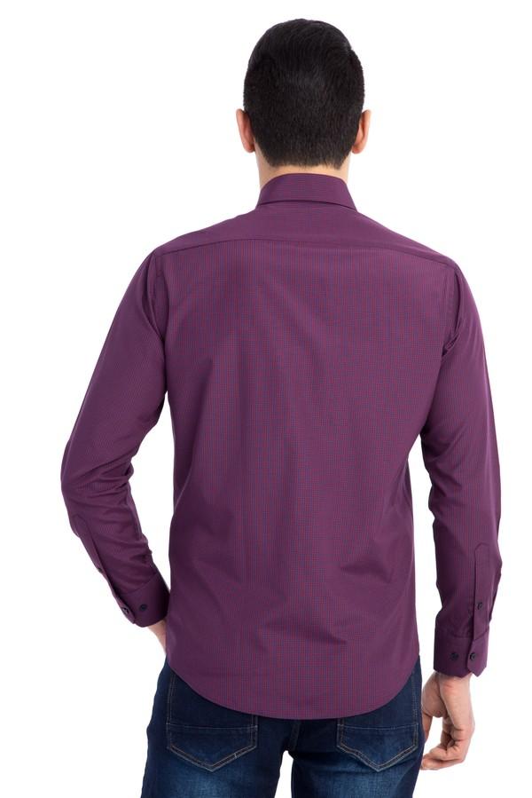 Uzun Kol Kareli Slim Fit Gömlek