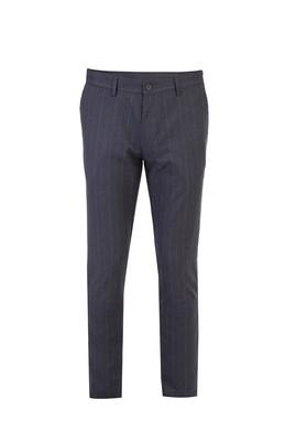 Slim Fit Klasik Çizgili Pantolon