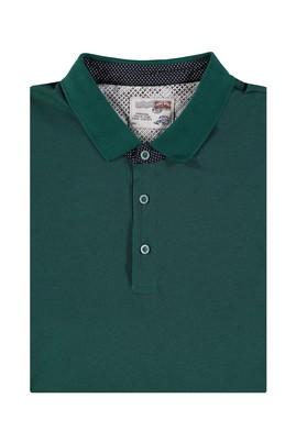 Erkek Giyim - King Size Polo Yaka Desenli Tişört