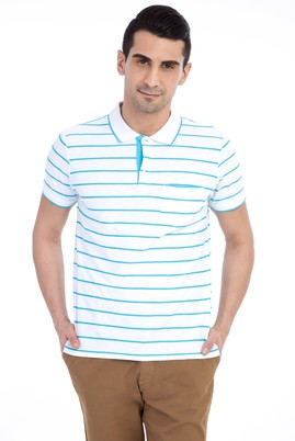 Polo Yaka Çizgili Regular Fit Tişört