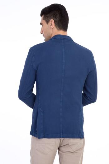 Desenli Spor Yıkamalı Ceket