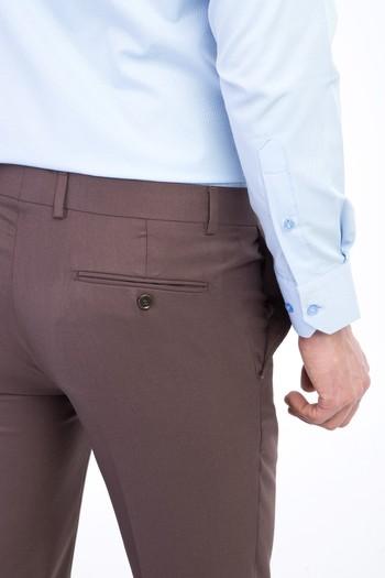 Slim Fit Düz Pantolon