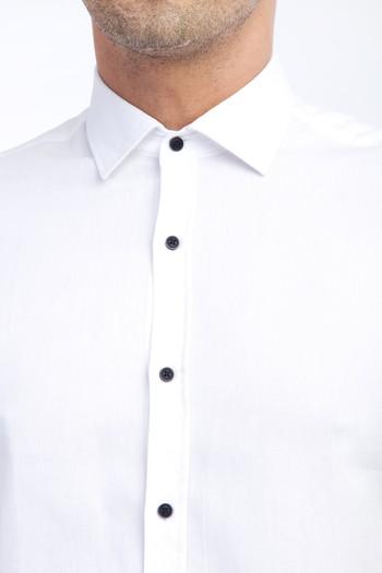 Kısa Kol Tasarım Slim Fit Gömlek