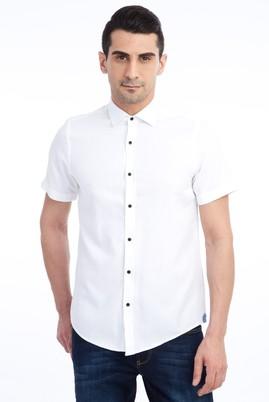 Erkek Giyim - Kısa Kol Spor Slim Fit Gömlek