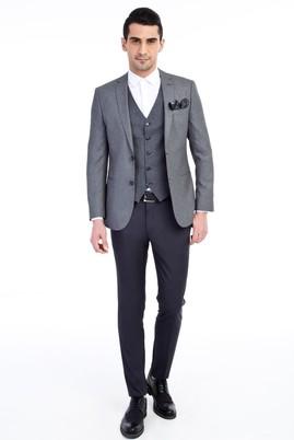 Süper Slim Fit Yelekli Takım Elbise