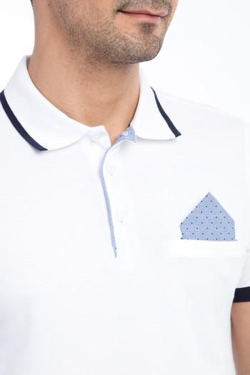 Polo Yaka Düz Slim Fit Tişört