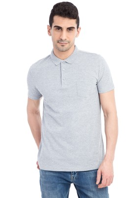 Polo Yaka Desenli Regular Fit Tişört
