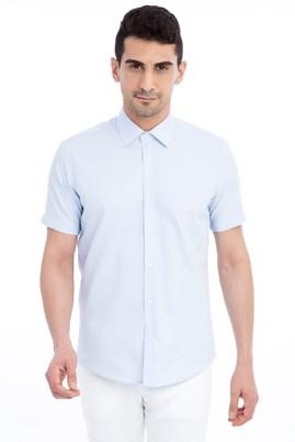 Kısa Kol Düz Slim Fit Gömlek