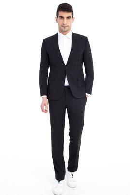 Slim Fit Kareli Takım Elbise