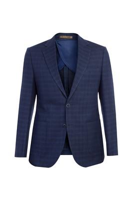 Erkek Giyim - Slim Fit İtalyan Kareli Ceket