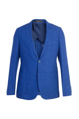 Erkek Giyim - Slim Fit İtalyan Keten Ceket