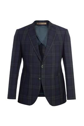 Erkek Giyim - Slim Fit İtalyan Ekose Ceket