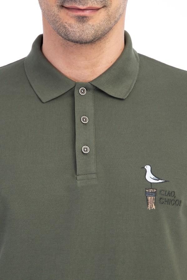 Regular Fit Nakışlı Polo Yaka Tişört