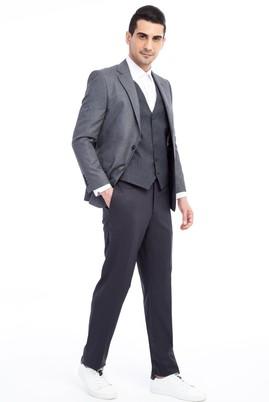 Yelekli Desenli Takım Elbise